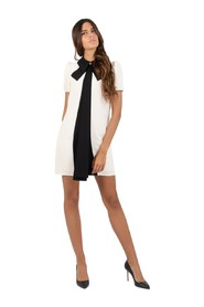 Dress with contrasting bow