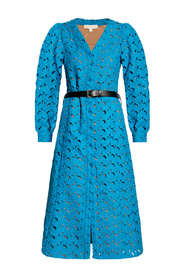 Openwork dress with long sleeves