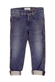 JEANS SKINNY CON STAMPE LATERALI