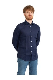 French collar slim shirt
