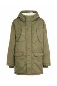 Parka coat teddy lined