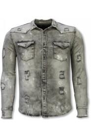Shirt Slim Fit Damaged Allover