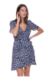 Telsi Leopard Wrap Dress