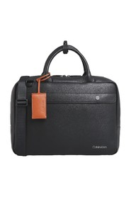 CALVIN KLEIN K50K505380 UNITED PU LAPTOP SHOULDER BAG Men BLACK