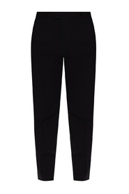 Cigarette Fit pleat-front trousers