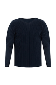 Pleated T-shirt with long sleeves