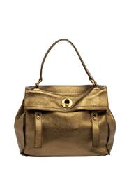 Pre-owned Leather and Suede Medium Muse Top Handle Bag