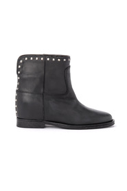 Ankle boots with applied studs