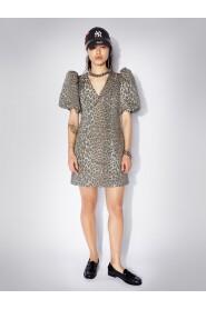 Robyn Puff Sleeve Leopard Mini Dress