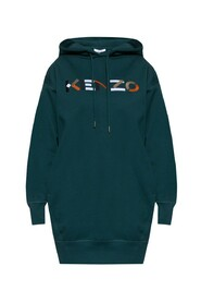 Long hoodie with logo