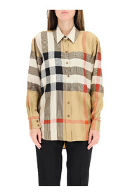 carlota shirt in check silk
