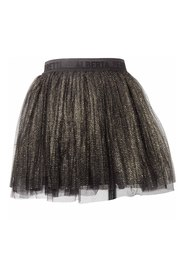Skirt with metallic weave