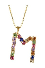 Multicolored M Letter Necklace