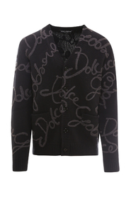 Cashmere cardigan with Dolce&Gabbana embroidery