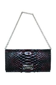 Snakeskin Clutch With Chain -Pre Owned Condition Very Good
