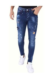Jeans met Paint Drops   Slim Fit  A000