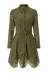 Lace Shirtdress Mini