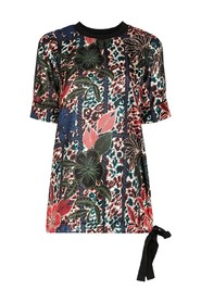 Maglia Manica Corta blouse with flowers