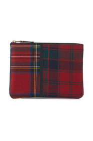Wallet in tartan patchwork