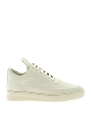 sneaker leather LOW TOP RIPPLE EMBOSSED OFF WHITE 2512760
