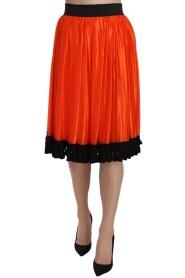 High Waist Knee Length Skirt