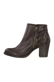 Ankle boots croco brandy heel