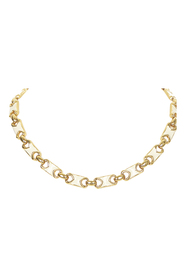 Pre-owned Gold Tone Chain Necklace
