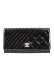 Coco Boy Patent Leather Flap Wallet