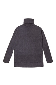 Koksgrå CATHRINE HAMMEL - Short Wide Turtleneck Cox grey melange
