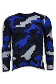 Dazzle Paint Sweater - Camouflage Long Fit Sweater
