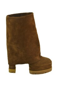 Suede Fold-Over Boots