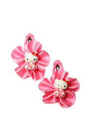 Mørkerosa Soft Touch Hello kitty hårspenner 2 pk
