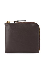 Brown leather coin pocket