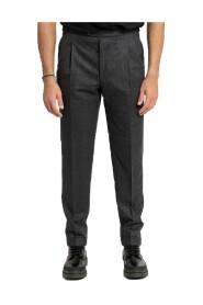 Turn-up Hem Trousers/Grey