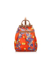 Printed Canvas Satchel