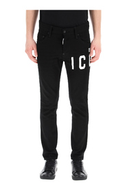 Icon print skater fit jeans