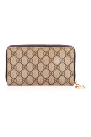 Pre-owned GG Supreme Zip Around Long Wallet