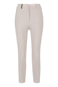Trousers with a strip on the waist