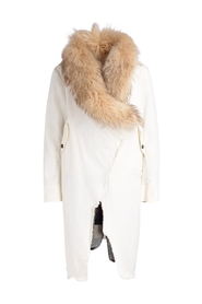 Jacket with detachable interior and fur