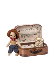 Little Brother Cowboy in Suitcase
