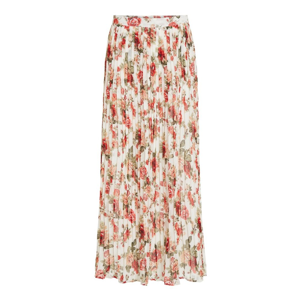Maxi skirt Patterned pleated