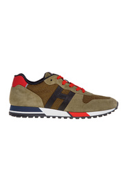 H383 sneakers in suede and technical fabric
