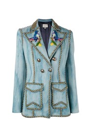 Embroidered Jacket with Studs