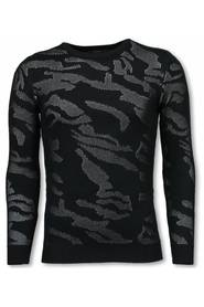 3D Camouflage Pattern Sweater - Neon Pullover