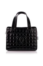 Chocolate Bar Cc Bowler Quilted Patent Bag -Pre Owned Condition Very Good