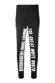 Slogan print ski trousers