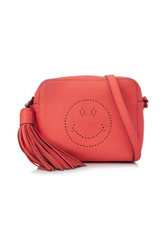Smiley Calf Leather Crossbody Bag