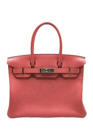 Pre-owned Taurillon Clemence Birkin 30 Leather Calf
