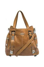 Leather Buckle Strap Convertible Tote