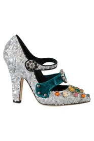 Crystal Mary Janes Pumps